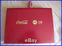 Rare China Coca Cola Plant Opening Ceramics Bottles with box
