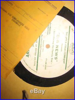 Rare Huge Collection Lot of Vintage Coca Cola Coke Films and Records