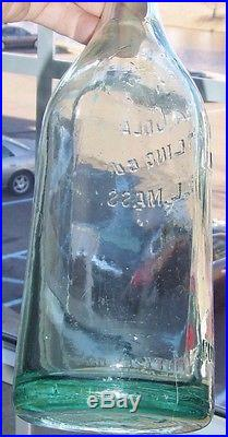 Rare Original Straight Side Coca Cola 1 Pint 12 Oz Bottle Lowell, Mass Nice