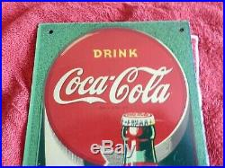 Rare Vintage NEAR MINT 1944 Coca Cola Soda Pop Gas Station 17 Thermometer Sign
