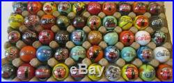 Set Of 50 Beautiful Coca-cola Advertising Marbles Swirls & Colors Rare