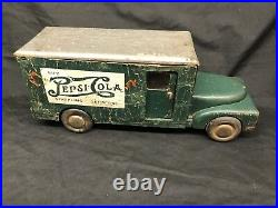Super Rare 1941-43 Buddy L Cardboard And Wood Pepsi Cola Toy Truck
