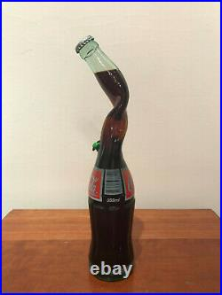 Unopened Coke Coca Cola 355 ml Twisted Neck Glass Bottle FREE SHIPPING