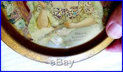VERY RARE 1903 COCA-COLA HILDA CLARK (TABLE WithSTATIONARY) 6 DIA. CHANGE TRAY