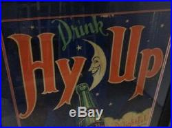 VERY RARE, ART DECO HY UP COLA SODA SIGN, NOT COKE, PEPSI, 7up JUST COOL