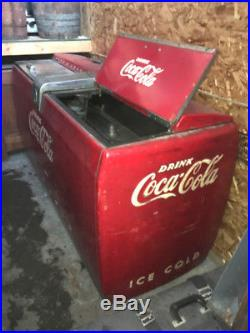 VINTAGE 1949 orig. Westinghouse WE10 Coca Cola Cooler 50's All There! VG