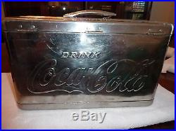 Vintage 1950's Braniff Airways Coca Cola Stainless Steel Airline Coke Cooler