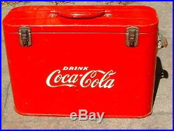 VINTAGE 1950s Coca Cola Airline Cooler with Bottle Opener clean condition