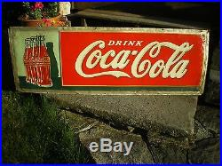 Vintage Coca Cola Sign Early Coke Advertising 1923 Metal Large