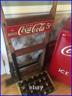 VINTAGE COCA COLA WESTINGHOUSE JR 1937 Bottles And Dolly Restored Beautiful