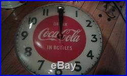 Vintage Rare Coca-cola Electric Lighted Clock By Synchron -working Fine