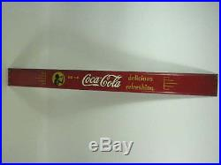 Vtg 1940's Silhouette Girl Drink Coca-cola Delicious Refreshing 39 Metal Sign