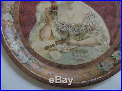 Very Htf 1903 Round Coca Cola Advertising Serving Tray By Chas. Shonk Co Rareone