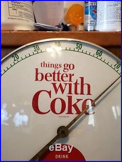 Vintag1950 Drink Coca Cola Thermometer Things go Better With Coke Advertising SI