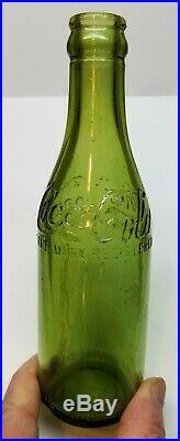 Vintage 1900's Olive Green Straight sided Coca Cola Coke Bottle
