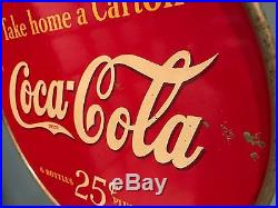 Vintage 1930's Coca Cola Rack Display with Sign Six Pack Drink Soda Advertising