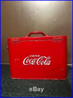 Vintage 1940's 50's Original Coke Coca Cola Airline 6 pack small Cooler