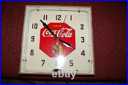 Vintage 1941 Neon COCA COLA Electric Wall Clock FULLY RESTORED COKE Sign