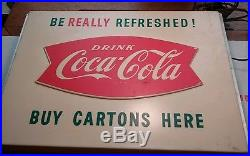 Vintage 2 Sided Coca-Cola Neon Sign Be Really Refreshed. Working 1959