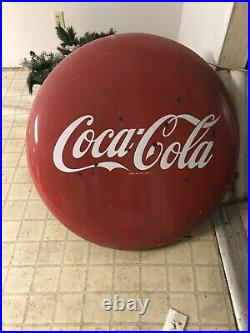 Vintage 36 1950s Coca-Cola Button & Mounting Brackets