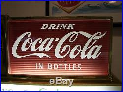 Vintage 50's Coca Cola Coke Light Up Fountain Clock Sign Soda Shop Diner Awesome