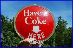 Vintage 50's Coca Cola Have A Coke Here Soda Light Up Advertising Display Sign