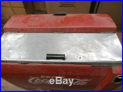 Vintage COCA COLA Cavalier Corp. Electric Ice Chest Cooler Machine