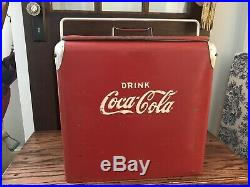 Vintage Classic Red Metal Coca-Cola Action Mfg Inc. Coke Ice Chest Cooler