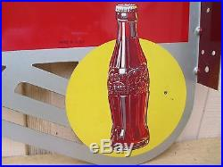 Vintage Coca Cola 1930's Flange Sign Original New Old Stock No Reserve