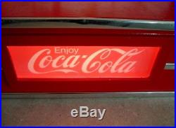Vintage Coca Cola Soda Fountain Store Display Lighted Sign Coke Advertising NICE