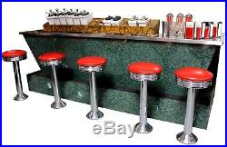 Vintage Coca Cola Themed Ice Cream & Soda Bar, with Stools & Accessories
