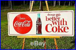 Vintage Coca Cola Things Go Better With Coke Soda Drink Button Sign Beautiful