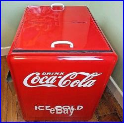 Vintage Coca Cola Westinghouse Double Door Ice Chest Cooler Fully Restored EUC