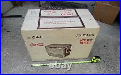 Vintage Coke Coca Cola IGLOO Ice Chest Picnic Cooler in BOX Unopened NEVER USED