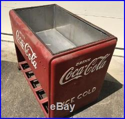 Vintage Drink Coca Cola Cooler Chest Icebox Double Lid Akron-Cleveland OH Area