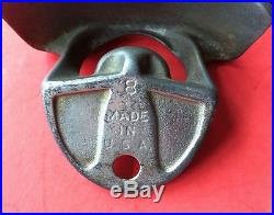 Vintage Drink Coca-Cola Starr X Old 1925 Cast Iron Wall Mounted Bottle Opener