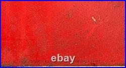 Vintage Early Coca Cola Soda Pop Lady With bottle graphic Metal Sign Coke 54X18