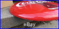 Vintage Large 36 inch Porcelain Coke Coca Cola Button Bottle Sign SO CLEAN