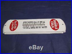 Vintage/Original DOUBLE COLA Soda Thermometer SignWORKS/LOOKS GREATMust See