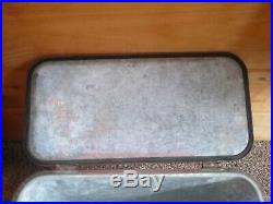 Vintage Rare 1950 60's Coca Cola Cooler Metal Advertising Ice Box Inside Picnic