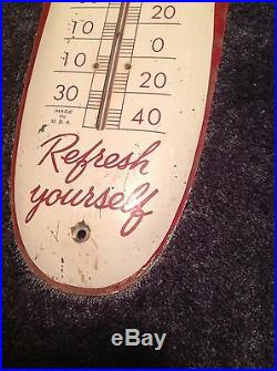 Vintage Rare Orignal Drink Coca Cola In Bottles Thermometer