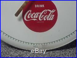 Vintage Things Go Better With Coke Drink Coka Cola round Thermometer