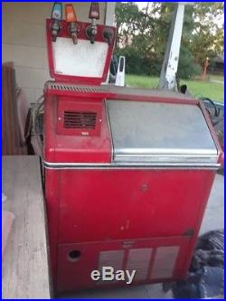 Vintage coca cola fountain and ice maker drugstore soda shop gas station movie