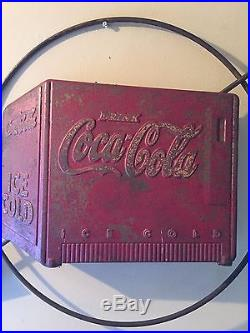 Vintage coca cola sign old 1940s Vintage original