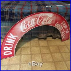 Vintage neon clock coca cola marquee from a cleveland clock sign