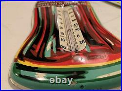 Vintage original 1933 Christmas bottle Coca-Cola thermometer embossed Very nice