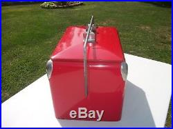 Vtg. Coke Coca-Cola Metal Picnic Ice Cooler & Sandwich Tray/Nice Just Not Mint