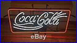 (vtg) Coca Cola Soda Coke Neon Light Up Sign Store Game Room Nos New Old Stock